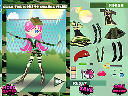Army Girl Dressup game