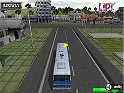 เล่นเกมฟรี School Bus Parking 3D