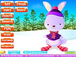 Winter Rabbit Dressup game