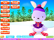 Winter Rabbit Dressup game