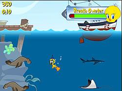 Tweety's Ocean Cleaning game