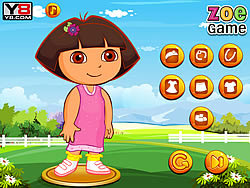 Zoe with dora dressup game