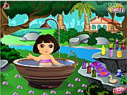 Cute Dora Bathing game