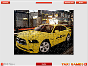 Dodge Taxi Puzzle game