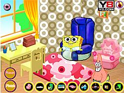 Jucați jocuri gratuite Baby SpongeBob Room Decor