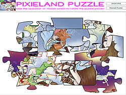 Permainan Pixieland Puzzle