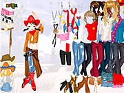 Play Cowgirl dress up Game