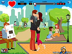 Naughty Park Kiss game