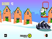 Play Santa snowboarding Game