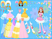 Play Flower gown dressup Game