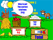 Farm Stand Math game