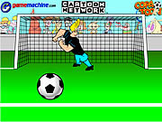Play Johnny bravo in bravo goalie Game