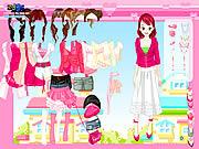 Play Pink closet dressup Game