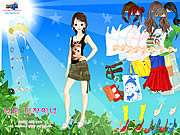 Sun and Leaves Dressup game