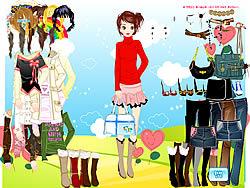 Barbie's Summer Dressup game