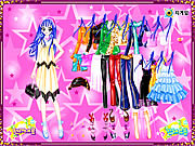 Blue Hair Star Dressup game