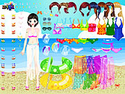 Play Sea swimming dressup Game