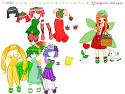 Fruit Doll Dressup game