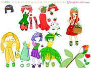 Fruit Doll Dressup game
