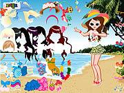 Play Beach fashion dresses Game