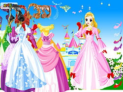 Wonderland Gown Dressup game