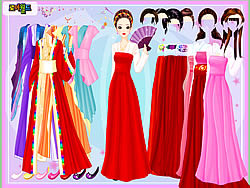 Gown and Robe Dressup لعبة