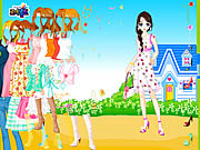 Play Blue house spring dressup Game