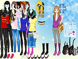 Caps and Bags Dressup game