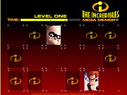 Play The incredibles mega memory Game