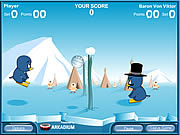 Play Penguin volleyball Game