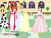 Play Castle gown dressup Game