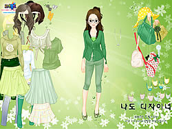 Green Life Dressup game