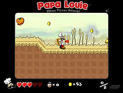 Играть бесплатно в игру Papa Louie: When Pizzas Attack