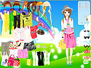 Play Rainbow style dress up Game
