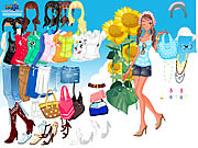 Play Sunflower dressup Game
