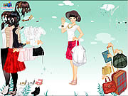 Skirt and blouse dress up Spiele