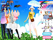 Play Rainy days dress up Game