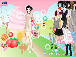 Candy Land Dress Up game