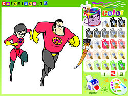 The Incredibles Colorbook game