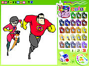 Play The incredibles colorbook Game