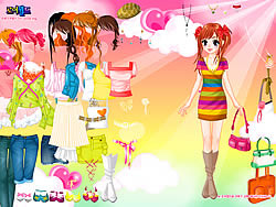 Colorful Dressup game