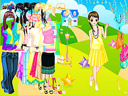 House in Field Dress Up game