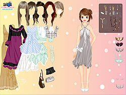Chique Gown Dress Up game