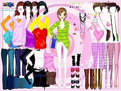Selma Pink Dress Up game