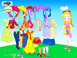 Colorful Doll Dressup game