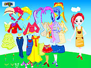 Play Colorful doll dressup Game