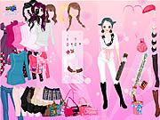 Jugar Pink glitter dress up Juego