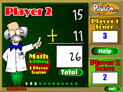 玩免费游戏 Two Player Math Game