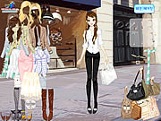 Play Front of shop dressup Game