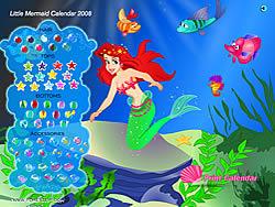 Gioca gratuitamente a Little Mermaid Calendar 2008